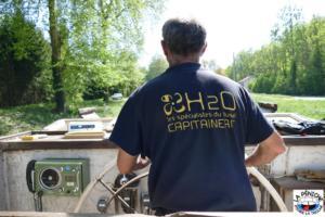En vue de l'écluse n°37 dite de Chaud-Rupt, à Mangonville, sur le canal des Vosges.