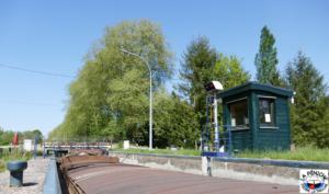 Dans l'écluse n°37 dite de Chaud-Rupt, à Mangonville, sur le canal des Vosges.